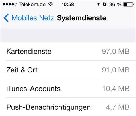 zeit ort hoher datenverbrauch bei iphone systemdiensten