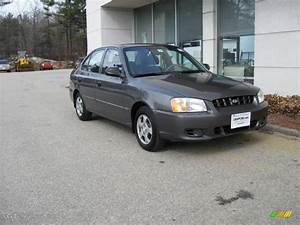 2000 Charcoal gray Hyundai Accent GL Sedan #6647054 ...