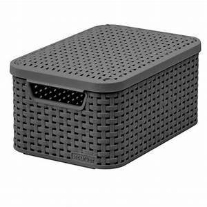 Rattan Box Mit Deckel : curver rattan basket with lid s size natural fibre look ~ Bigdaddyawards.com Haus und Dekorationen