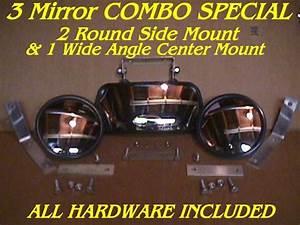 3 Skidsteer Mirrors 2 Side  U0026 1 Center Skid Steer Loader Fits Bobcat Gehl Cat Etc