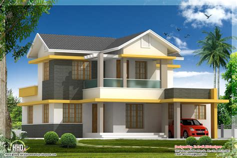 beautiful 4 bedroom house elevation in 1880 sq