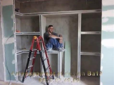 amenagement meuble de cuisine travaux decoration etagere ba13 placoplatre