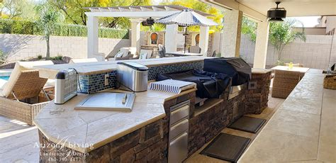 built  bbq arizona living landscape  design call