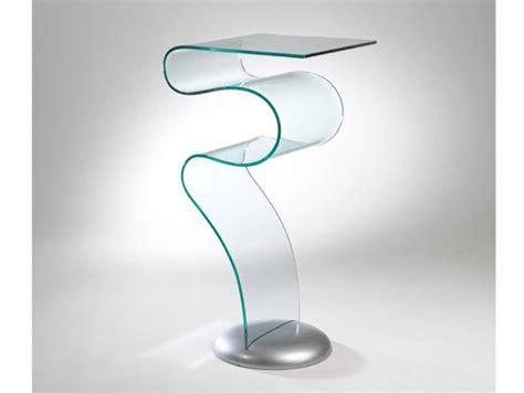 tavolini e consolle in vetro curvato arredare con stile