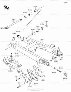 Kawasaki Motorcycle 2016 Oem Parts Diagram For Swingarm