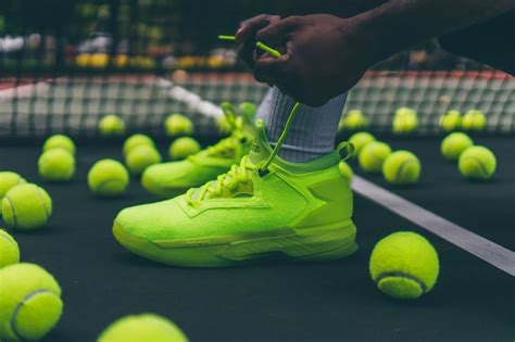 tennis ball inspired sneakers neon yellow shoes
