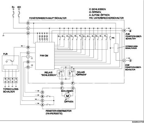 schaltplan elektrische fensterheber