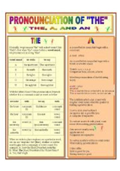 Definite And Indefinite Articles  Esl Worksheet By Giovanni