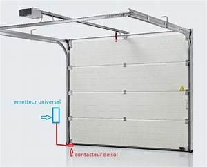 Detecteur ouverture diagral sur porte garage sectionnelle for Ouverture porte garage