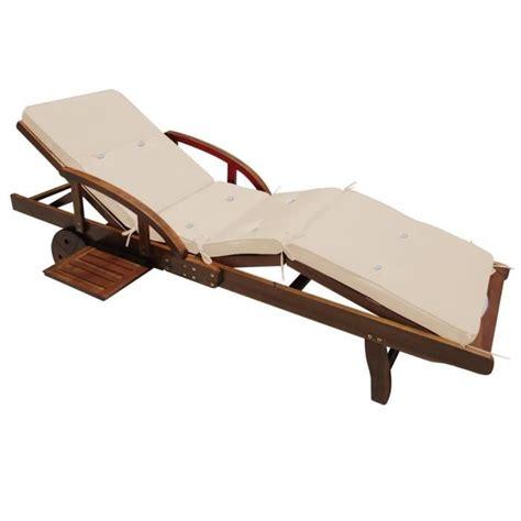 coussin pour chaise longue coussin pour chaise longue crème 195 cm achat vente