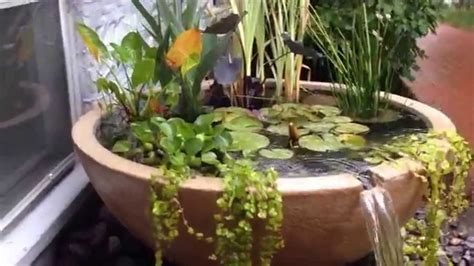 how to make a small water feature how to make a small area beautiful with a water feature or pond monroe county rochester ny youtube