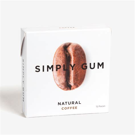 Bubble gum candy & toffee chew snacks & wafers lollipop chocolates. Simply Gum Natural Chewing Gum Coffee   Fairgum
