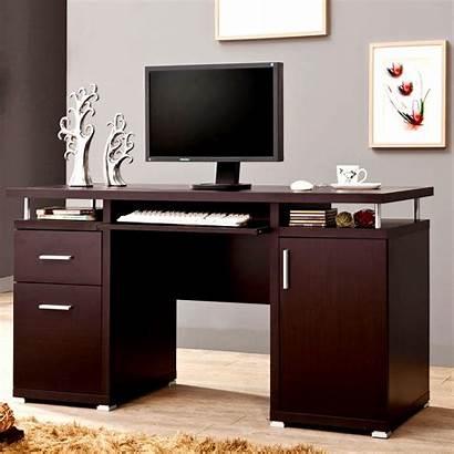 Computer Office Cabinet Desk Floating Drawers Modern