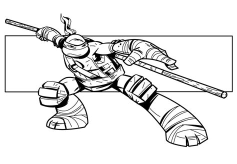 20 Dessins De Coloriage Tortue Ninja A Imprimer Gratuit