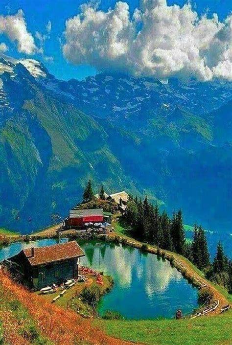 lake lungern switzerland beautiful landscapes scenery