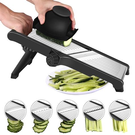 Kitchen Mandolin by Stainless Steel Mandoline Slicer Adjustable Kitchen Food