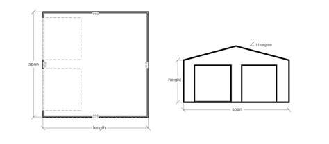 Double Garage With Gable Doors Economic Garage Built With