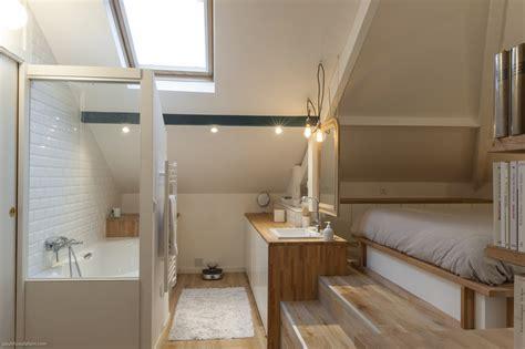 des salles de bain sous les combles ma 233 ma architectes