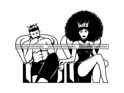 King Queen Svg African Couple Goals Relationship