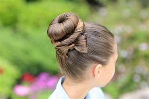 The Perfect Bow Bun Updo | Cute Girls Hairstyles