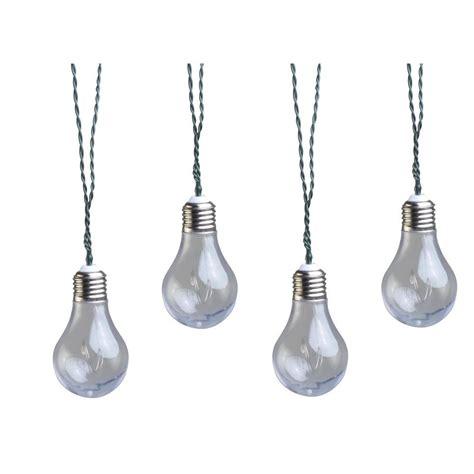 solar bulb string lights moonrays solar powered led clear vintage bulb string light