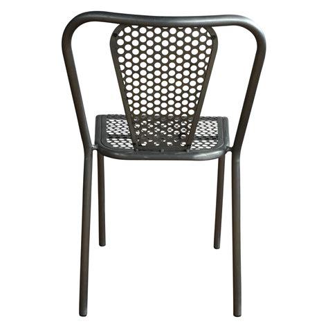 chaise métal industriel chaise en métal grise style industriel demeure et jardin