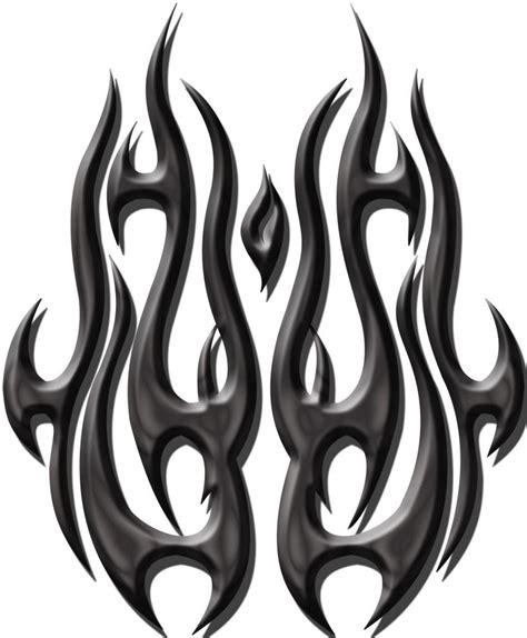 wonderful tribal fire  flame tattoo