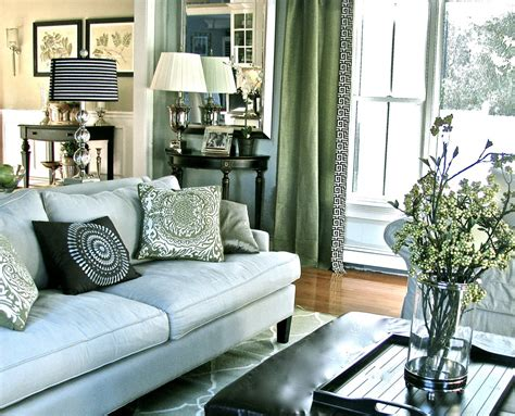 Dark-green-sofa-living-room-contemporary-with-console-table-curtains-decorative How To Put Up Curtain Tie Back Make Your Own Round Shower Rod Beach Scene Curtains Bath Accessories Other Words For Baby Blue And Brown S Fold Sheer Bedroom Ideas Environmentally Friendly