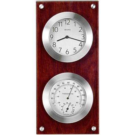 kitchen faucets contemporary bulova mariner 14 5 in h x 7 in w weather wall clock