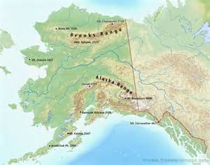Alaska Mountain Range Map
