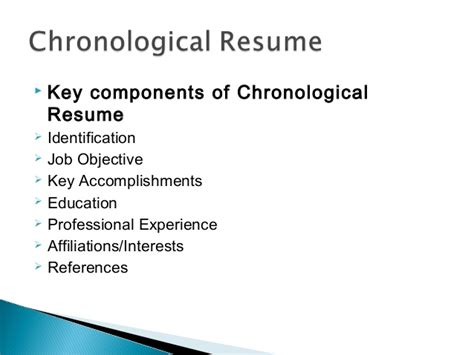 Chronological Resume Parts by Where Do You Put Conference Presentations On A Resume