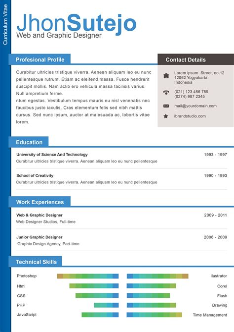 resume template designs freecreatives