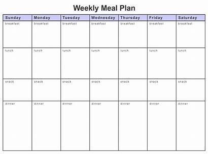 Meal Worksheet Plan Diet Printable Weekly Planner