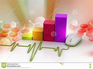 3d Illustration Of Computer Mouse With Wire As Heartbeat