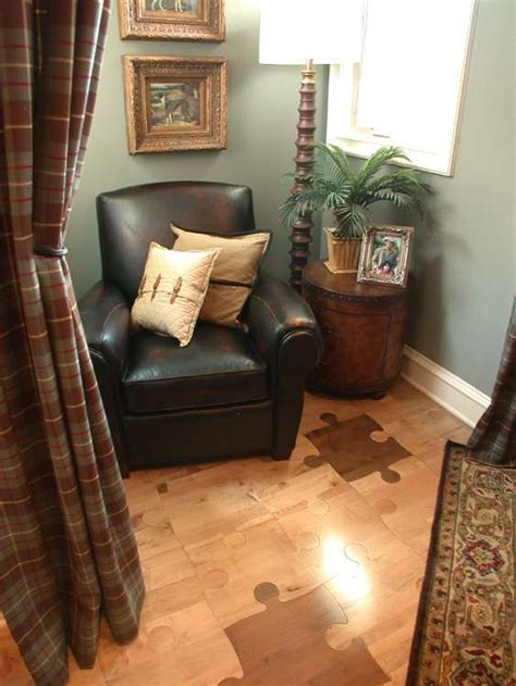 Puzzle Flooring: Thought Provoking Jigsaw Piece Hardwood
