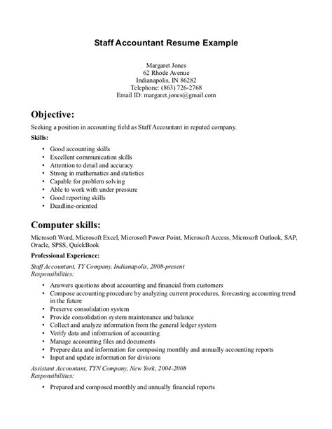 What Skills To Put On Resume For Accounting by Accountant L Picture Staff Accountant Resume