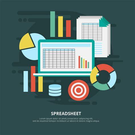spreadsheet vector illustration   vector art