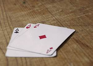 FREE IMAGE Three Aces Cards On Wooden Table Libreshot