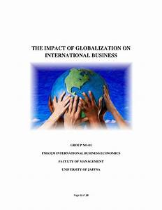The Impact Of Globalization On International Business