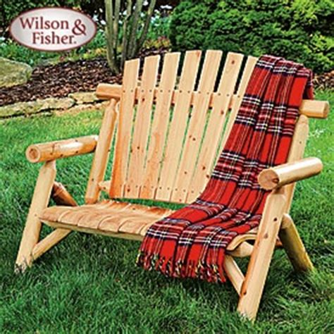 wilson fisher 174 log bench 110 back yard