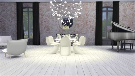 heracleum ii ceiling lamp  meinkatz creations sims