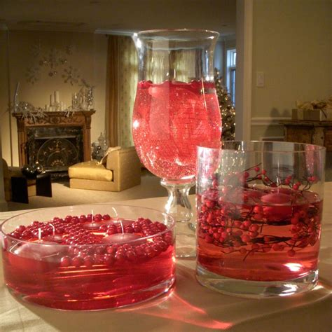 Candle Decorating With Glasses by Floating Cranberry Centerpiece Hgtv