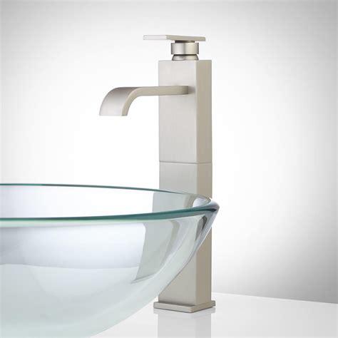 abell waterfall vessel faucet  pop  drain bathroom