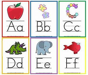 here are sets of free printable alphabet flashcards for With letter flashcards for preschoolers