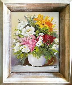 ölgemälde Blumen In Vase : blumenstrau blumen vase gem lde lgem lde bilder bild lbild mit rahmen g06473 ebay ~ Orissabook.com Haus und Dekorationen