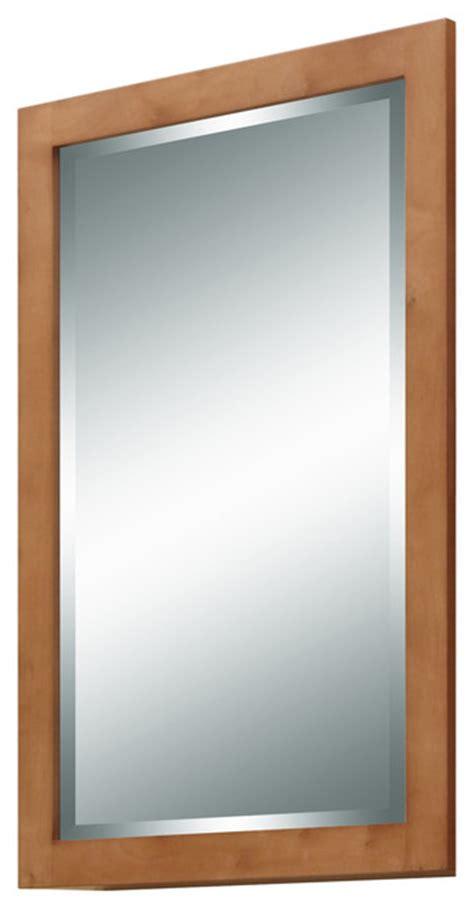 Maple Bathroom Mirror by Lincoln Mirror Light Maple Craftsman Bathroom