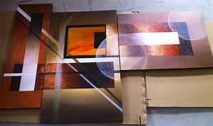 Tableau Triptyque Mural : tableau triptyque peint main tableaux design pinterest tableau tableau triptyque et ~ Teatrodelosmanantiales.com Idées de Décoration