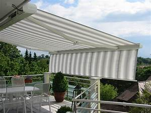 markisen baier sonnenschutz gmbh With markise balkon mit tapete grau weiß muster