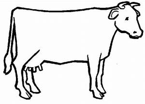 Cow Outline Clipart - Clipart Suggest