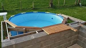 nivremcom terrasse en bois pour piscine tubulaire With petite piscine rectangulaire gonflable 5 nivrem terrasse bois piscine tubulaire diverses